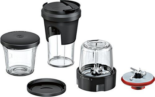 Bosch MUZ9TM1 Lifestyle Set TastyMoments, 5-in-1 Multi-Zerkleinerer-Set (Mixen, Mahlen, Hacken, Aufbewahren, ToGo-Lösung) für Küchenmaschinen OptiMUM