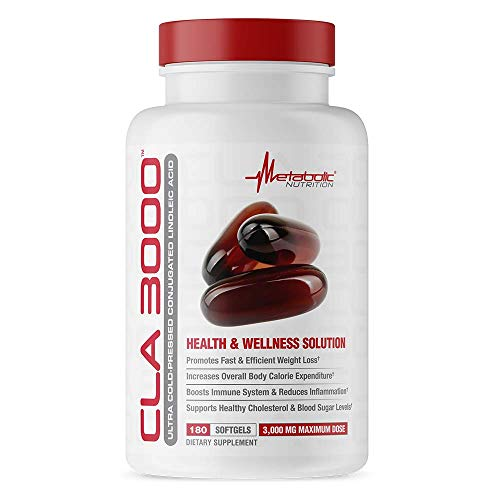 METABOLIC NUTRITION Cla 3000 Capsules Supplement, 180-Count