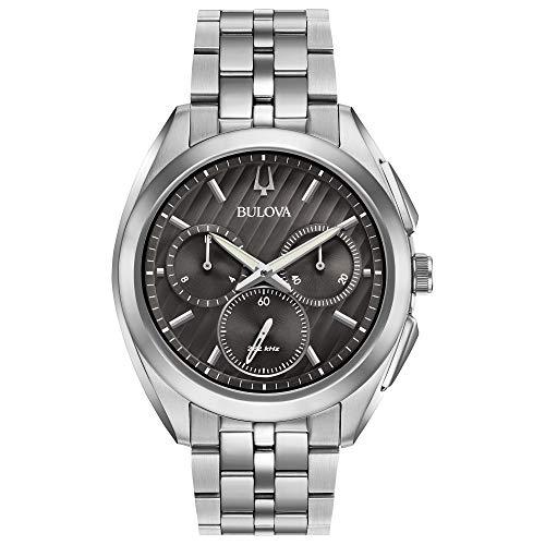 Bulova hombre Curv colección reloj de acero inoxidable
