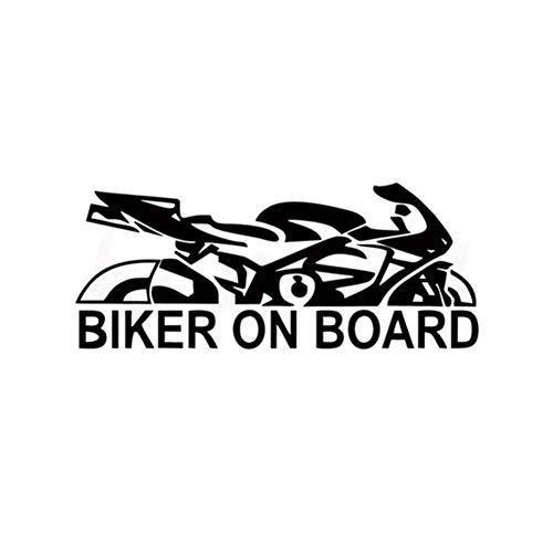 DSRLO Autoaufkleber 17,9 * 7,6 cm Autoaufkleber Biker an Bord Wand Home Glas Fenstertür Laptop Auto Truck Stoßstange Van Vinyl Decal Decor