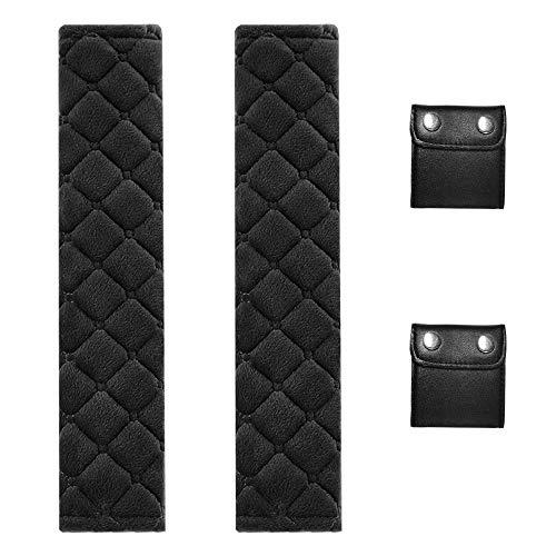 FineGood Sicherheitsgurt-Abdeckung mit Sicherheitsgurt-Clip, 2 Stück
