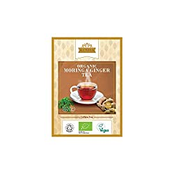 Moringa Ginger Tea 100% Organic Certified by Soil Association & Vegan Society Certified.Moringa Ginger Tea is a high source of Calcium for Vegans & good for digestion due to Ginger infused. Moringa tea is great for detox.Reap the health benefits of M...