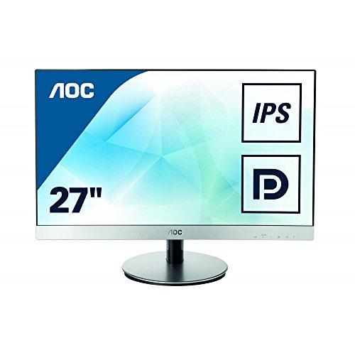 AOC I2769VM 68,6 cm (27 Zoll) Monitor (VGA, 2xHDMI, Displayport, 1920 x 1080, 60 Hz, 5ms Reaktionszeit) grau