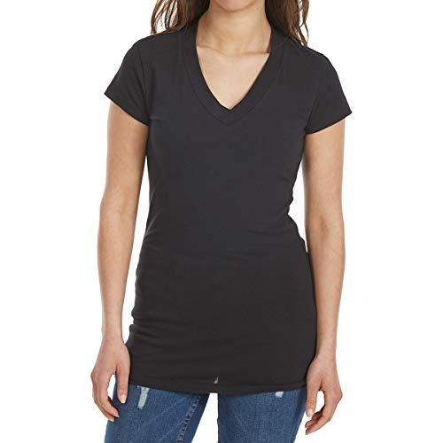 Tresics Women's Femme Basic V-Neck Tee Black L