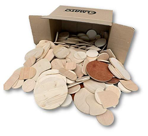Unbekannt 13007 Sperrholz runde Reste Holz Bastler Kreise Zuschnitte gemischt