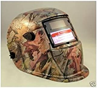 Solar Auto Darkening Welding & Grinding Helmet Hood Mask Golden Leaf Camouflage