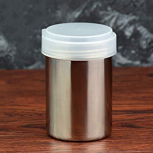 YCX Pulverstreuer Edelstahl Rostfrei Kaffee Kakao Zimt Schokolade Sieb Shaker Pfefferstreuer Gewürze Vorratsdosen, Mit Feinmaschigem Deckel,Silber