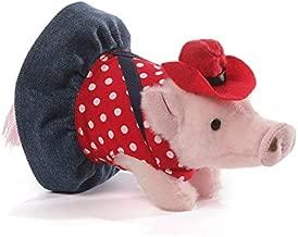 GUND Prissy Cowgirl Mini Pig Stuffed Animal Plush, 6