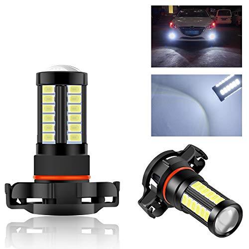 Teguangmei 2 pezzi 33SMD H16 LED Auto Bianco Lampadina Fendinebbia Super Luminosa 1000 Lumen Fendinebbia Luci Diurne Possono Essere Sostituite 12V