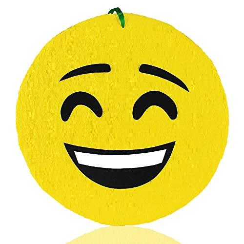 MagicPinatas Pinata Emoji zum Befüllen mit Süßigkeiten - Ideal Piniata für den Kindergeburtstag Spiel, Geschenkidee, Party, Halloween - Pinjata fur Kinder- Piñata fur Jungs,Geburtstag
