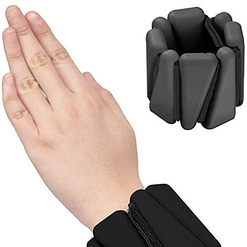 DriSubt Conjunto de pesas ajustables para tobillo y muñeca, con velcro de silicona, para mujeres, hombres, para gimnasio, fitness, yoga, correr, pilates, 1 lb cada uno, 2 por juego