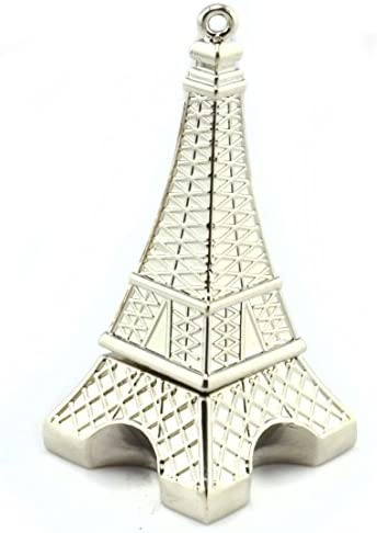 WooTeck 32GB Metal Eiffel Tower USB Flash Drive Silver product image