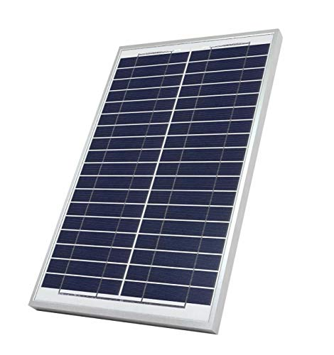TEMPO DI SALDI Pannello Solare Fotovoltaico Monocristallino Da 20W 21V Con Pinze A Morsa