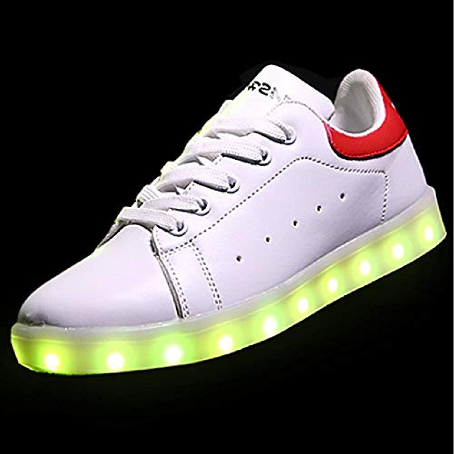 Women's shoes PU(Polyurethane) Spring Fall Light Up shoes Sneakers Round Toe Black Red