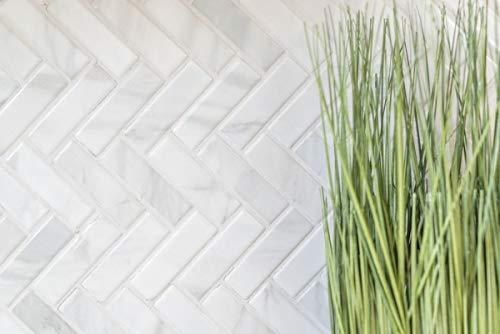 Mozaïek tegel keramiek visgraat steen-look wit tegelspiegel keuken MOS24-SO10_m