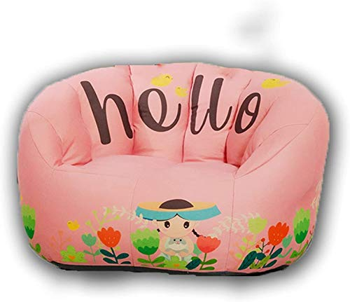 Juguete Sofá de Tela para niños Bolsa de Frijoles Ligeros Silla Perezosa para niños o niñas, extraíble y Lavable, Estilo navegante japonés, Multicapa (4 Tipos de Color, Rosa (Color : Pink)