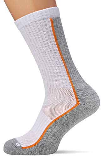 Head Performance Crew 3P Calcetines, White/Grey, 39/42 Unisex Adulto