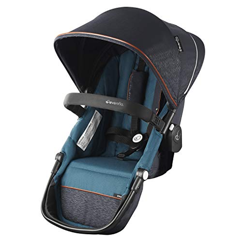 Evenflo Gold Pivot Xpand Second Seat, SensorSafe Automatically Syncs to App, Second Toddler Seat for Pivot Xpand, Works as Twin Stroller, Converts to Infant Mode, Fits Babies up to 55 Pounds, Sapphire