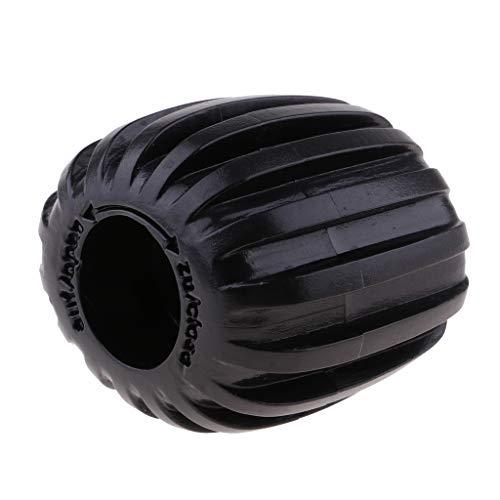 HomeDecTime Perilla de La Válvula del Cilindro del Tanque de Buceo - Tanques de Plástico ABS de Forma Ovalada de Encendido-Apagado - Negro