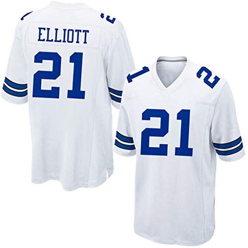 cjbaok NFL Dallas Cowboys Trikot 21# Elite Edition Trikot Kurzarm Top Stickerei Fans Version Fan T-Shirts,C,M
