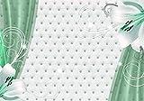wandmotiv24 Fototapete Türkise Lilien S 200 x 140cm - 4 Teile Fototapeten, Wandbild, Motivtapeten, Vlies-Tapeten Blumen, Vorhang, Polster M1875