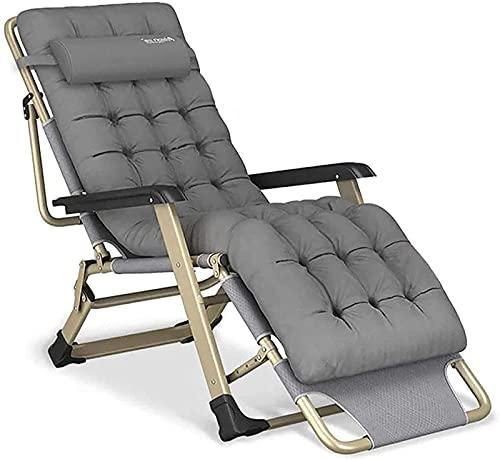 YRRA Klappbarer Liegestuhl, Liegestuhl Lazy Reclining Relaxer Bequemem Wattepad Für Patio-Garten-Strand-Pool, mit Kissen-Unterstützung 300kg
