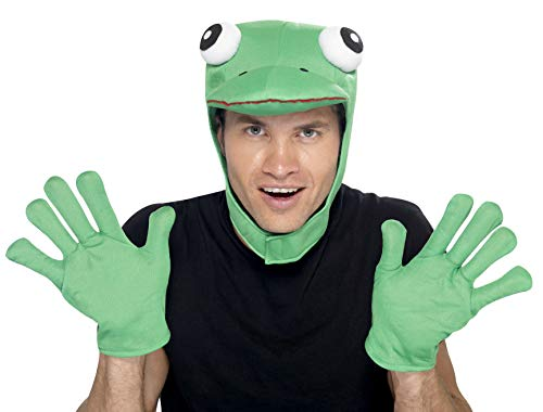 Froschhut Frosch Set Hut M�tze mit Handschuhen zum Tierkost�m