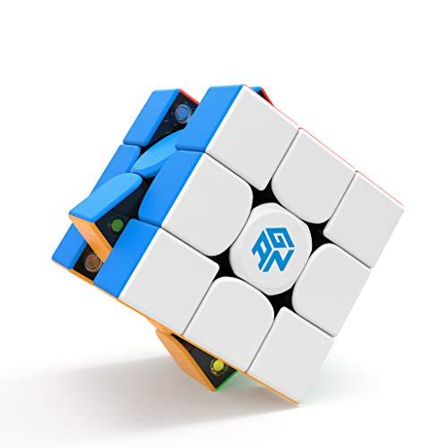 GAN 354 M v2 Magnetwürfel Zauberwürfel 3x3 Aufkleberloser Magischer Würfel GAN354 M ver.2020 Puzzle Spielzeug für Kinder und Kleine Hände