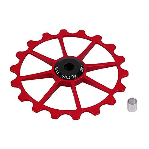 MiOYOOW Corona de bicicleta 18T, piñones MTB 72 mm, rueda dentada con rodamientos de cerámica para bicicleta de montaña de carretera