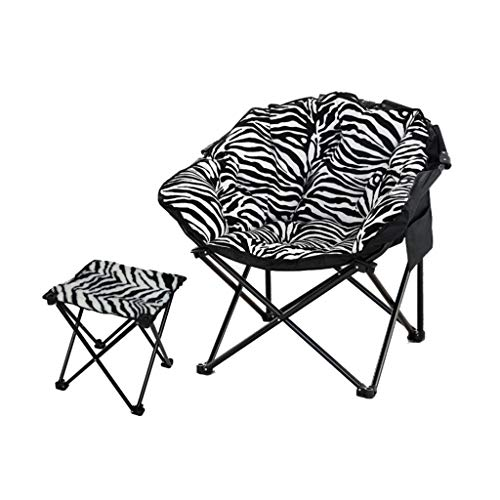 SAN_Y Chair Large Adult Moon Chair Sonnenliege Lazy Chair Recliner Klappstuhl Runder Stuhl (Farbe : Zebra)