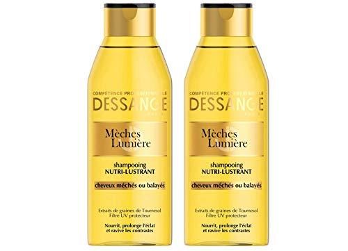 Dessange – Licht-Strähne, Shampoo für trockenes oder gesträhntes Haar – 250 ml – 2 Stück