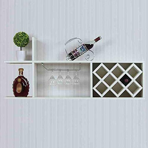 XIN Estantes del Vino Estante del Vino de Madera Maciza Estantes Colgantes...