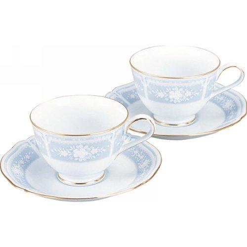Noritake feines Porzellan Lacewood Gold Tee-/Kaffeetasse und Untertassen Set von Noritake