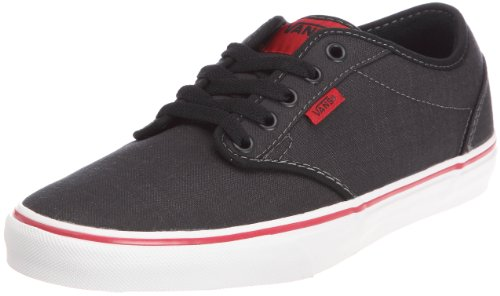 Vans Mens Atwood Textile Shoes Black Chilli Size 11