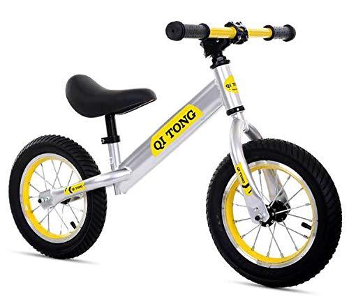 AI-QX Bicicleta sin Pedales para niños y niñas | Bici 12 Pulgadas...