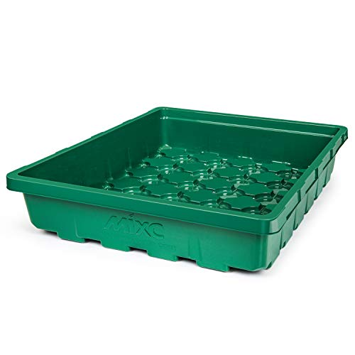 5-Pack Seed Starter Tray, Strong Plant Growing Trays Seedling Starting Kit for Peat Pellets, Microgreens, Soil Blocks, Rockwool Cubes, Wheatgrass, Hydroponic, Fodder Systems, No Drain Holes
