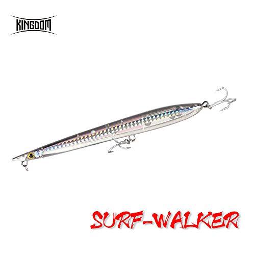 kingdom Fishing Topwater señuelo Flotante Artificial para Cebo para bajo, Lucio Duro lápiz señuelos 155 mm/6.1 Pulgadas 20 g/0.71 oz Z-Action, 6 Ghost Black, 155mm/6.1inch …