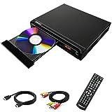 Reproductor de DVD, reproductor de DVD para TV, reproductor de DVD / CD / MP3 HD1080 gratuito para todas las regiones con salida HDMI y AV y entrada USB