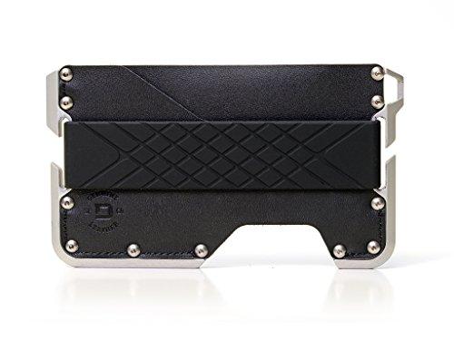 Dango D01 Dapper EDC Wallet - Made in USA - Genuine Leather, Slim, Minimalist, Metal, RFID Blocking