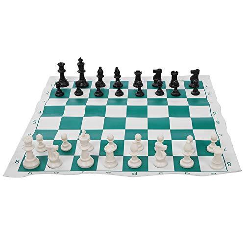 Juego de ajedrez internacional, juego de tablero de ajedrez de PVC, viaje portátil plegable para exteriores(45CM)