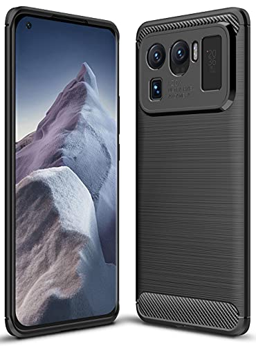 ALAMO Funda Ultra de Silicona para el Xiaomi MI 11 Ultra, Carcasa Fibra de Antigolpes Bumper - Negro