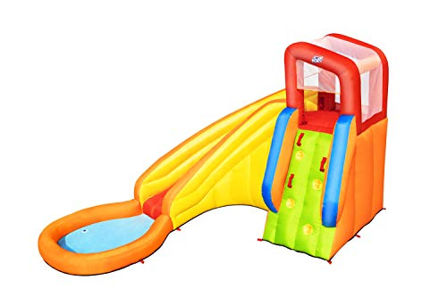 Bestway H20Go Splash Tower Mega Water Park, Bouncy Castle with Slide and Climbing Wall, Multi