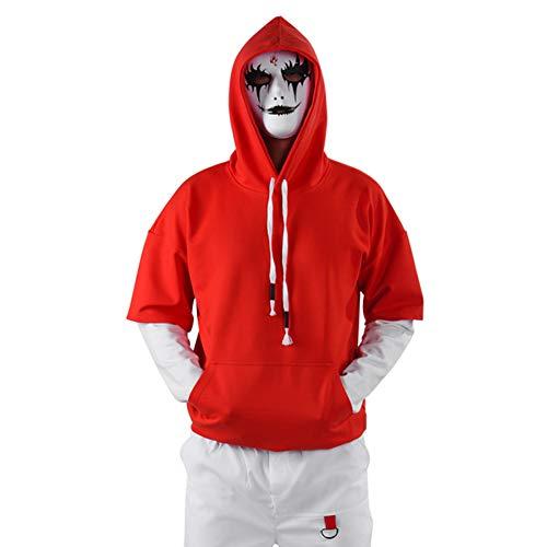 Shhjjpy heren lange mouwen hoodie jas tiener mannen slijtage duivel masker hoodie T-Shirt katoen trui casual trui winter jongen sportkleding