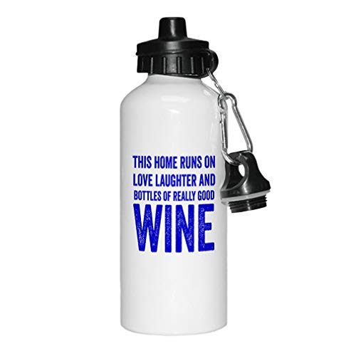 aqf527907 Royal Blue Runs en flessen van echt goede wijn nieuwigheid witte sport waterfles aluminium, school waterfles, verjaardag, voor mannen, voor vrouwen