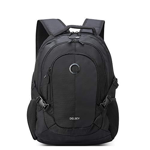 DELSEY Paris Navigator Laptop Backpack, Black, 15.6' Sleeve