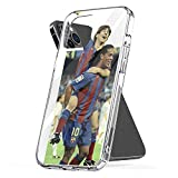 Phone Case Messi - Ronaldinho - First Goal Messi Compatible with iPhone 6 6s 7 8 X XS XR 11 Pro Max SE 2020 Samsung Galaxy Bumper Accessories
