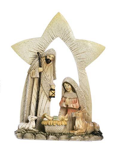 Paben Noel Groupe Nativité Crèche en résine cm. 22,8 x 17 x 5,3