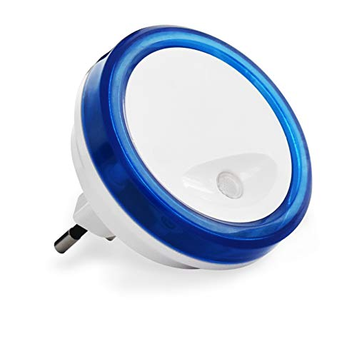 Veilleuse bébé - Veilleuse Chambre Enfant - Veilleuse bébé électrique - Veilleuse crépusculaire - Veilleuse détection crépusculaire PlugLight - Bleu - HEC0049 SCS Sentinel