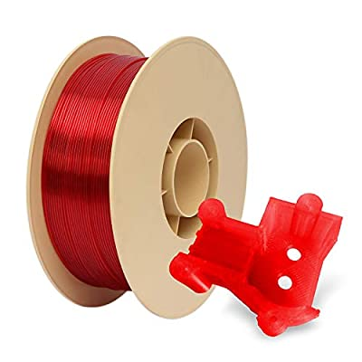 Red PETG 3D Printer Filament 1.75 mm 1kg Spool (2.2lbs) Perfectly Coiled in Ecofriendly Straw Based Spool by RepRapper