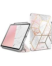 i-Blason Fodral för iPad Pro 12,9 tum (2020-utgåva) skyddsfodral marmor [Cosmo] trifold stående skyddande fodral med automatisk automatisk sömn/vakna och pennhållare (lila)